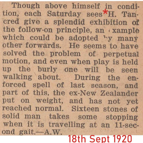 1920 story about harry dated 18th sept