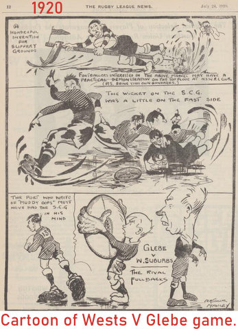 1920 wests v glebe cartoon