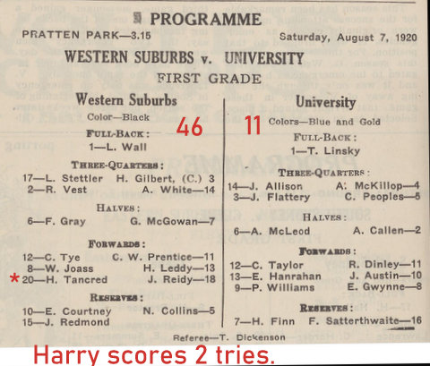 1920 wests v uni program second round aug 7th