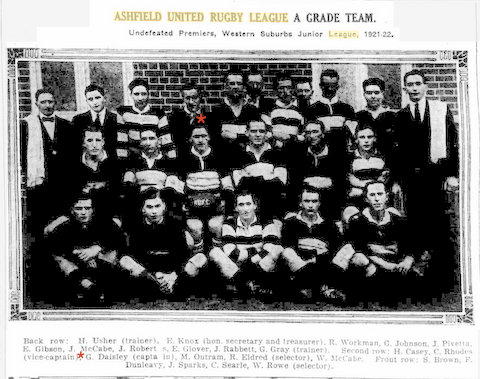 1921 ashfield united jnr team photo