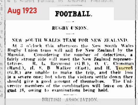 1923 harry misses tour og nz story