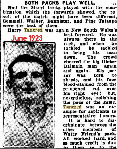 1923 story about NSW V Maoris