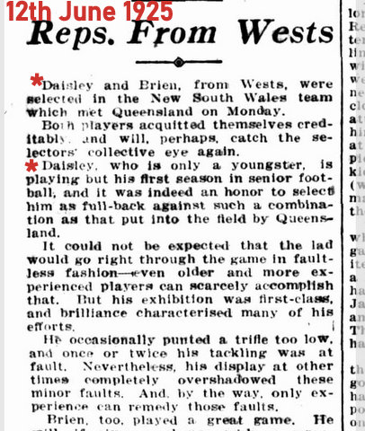 1925 june story nsw v qld