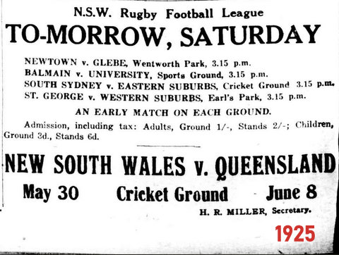 1925 may advert nsw v qld