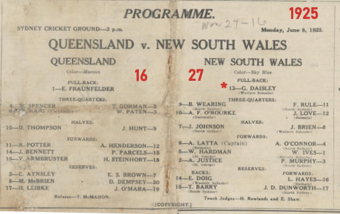 1925 nsw v qld program