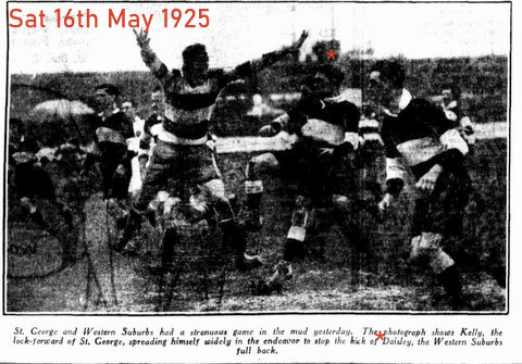 1925 photo of gorden kicking