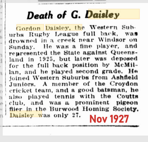 1927 newspaper story on gordons death