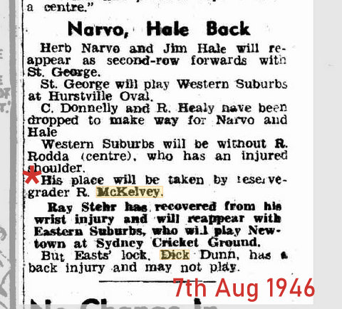 1946 dick first game paper report