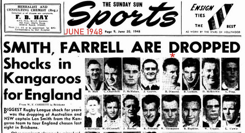 1948 kanga tour story shocks in seklections