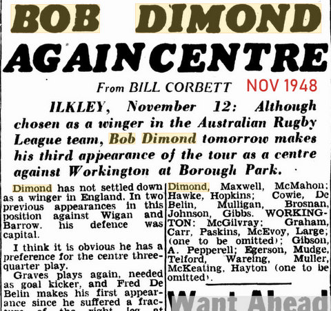 1948 nov kanga tour third apparance in team