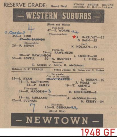 1948 reserve g gf wests v newtown