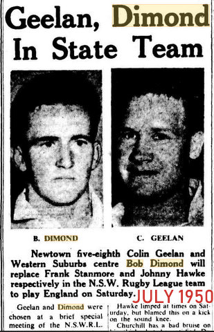 1950 july bob picked for nsw v poms