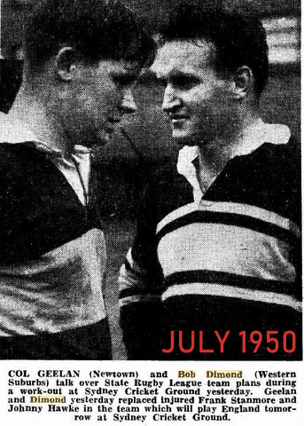 1950 photo col geelan and bob at nsw traing V poms