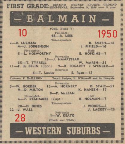 1950 second semi final reservre grade wets v balmain