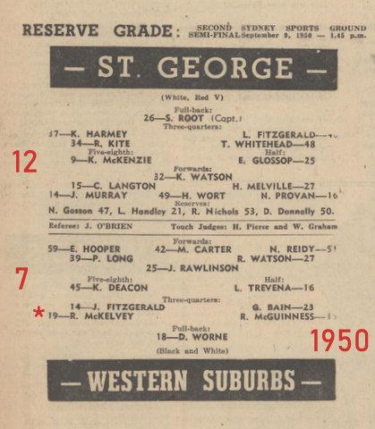 1950 semi final reserve grade program
