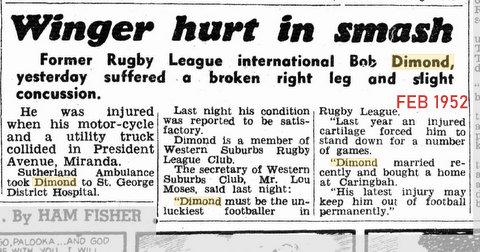 1952 feb story of motor bike smash.