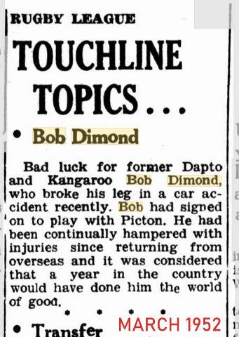 1952 march broken leg story