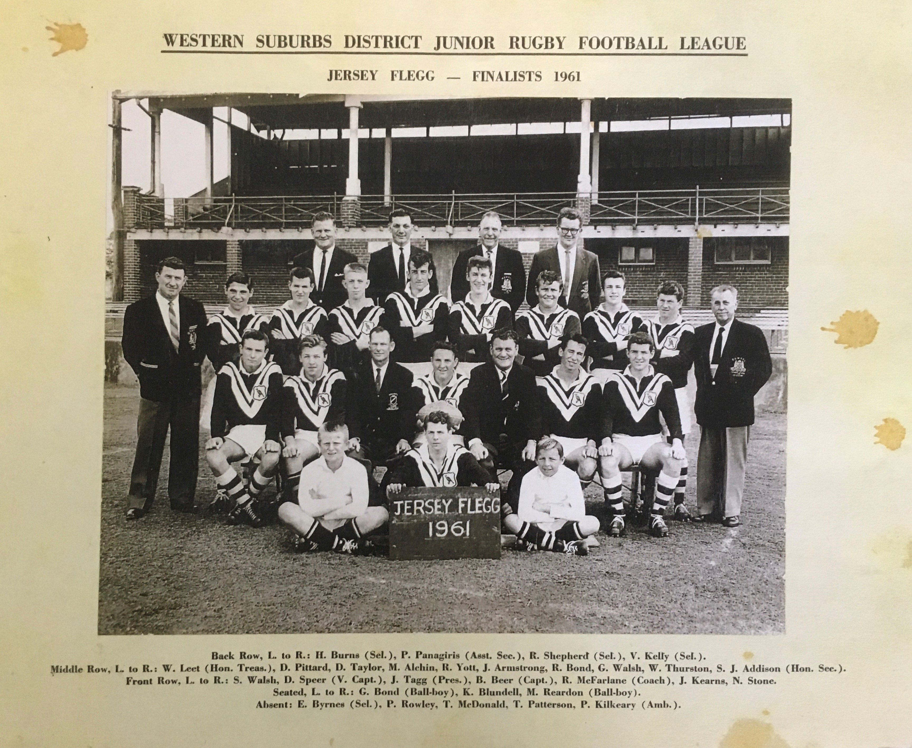 1961 Wests President Cup (1)