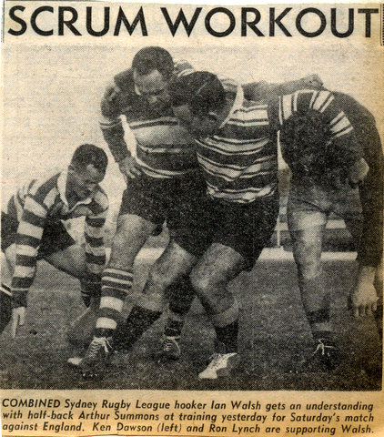 1962 phto sydney v england ian walsh