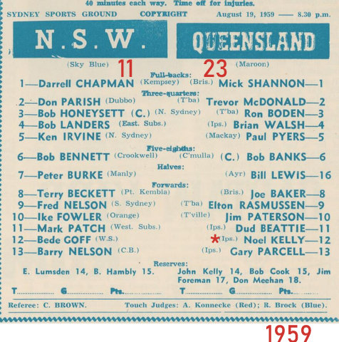 1959 nsw v qld program