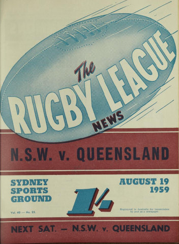 1959 progam cover nsw v qld