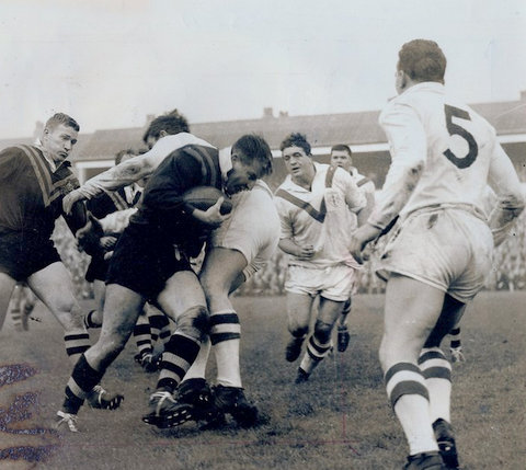 1963 phto ned playing for aust swinton