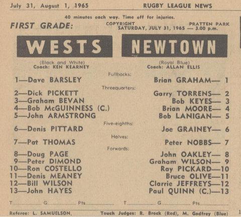 1965 bill wilson 1st grade game