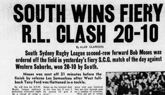 New clips Wets v souths 1969 scg